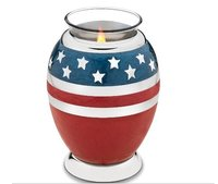 Tealight Stars & Stripes Cremation Urn