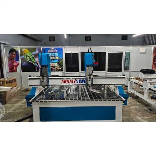 Fully Automatic Double Servo CNC Wood Carving Machine