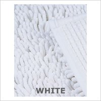 Hotel White Bath Mat Shaggy