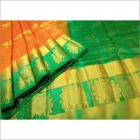 Star Peacock Kanjivaram Saree