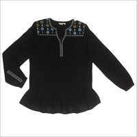 Ladies Full Sleeves Embroidered Top