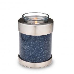 Tealight Speckled Indigo Cremation Urn