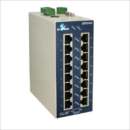 Industrial Managed 16-Port 10-100 Base With 2-Port Gigabit Combo Ethernet Switch