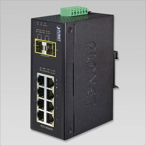 Industrial Un-Managed Ethernet Switch With 8 Ethernet Port & 2 F-O Port