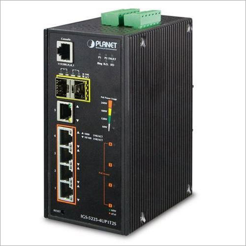 Industrial Managed 4-Port PoE Switch