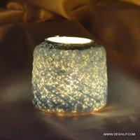 BEAUTIFUL GLASS AND MOSAIC CANDLE VOTIVE