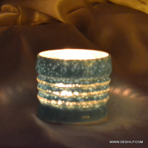 CANDLE VOTIVE WITH SILVER FINISH