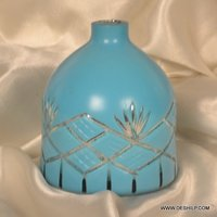 COLOR GLASS CUTTING FLOWER VASE