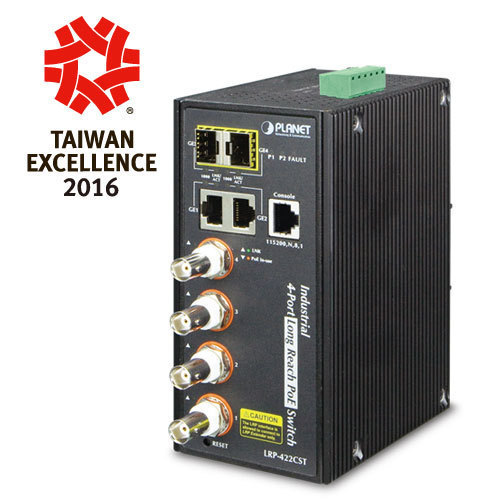 DIN-rail Managed Fast Ethernet PoE Switch