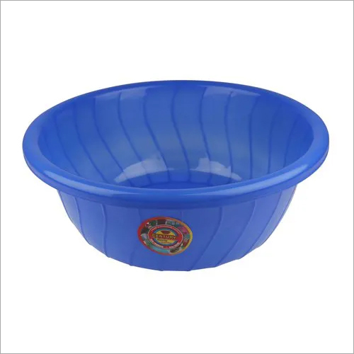 Bllue Blue Plastic Basin