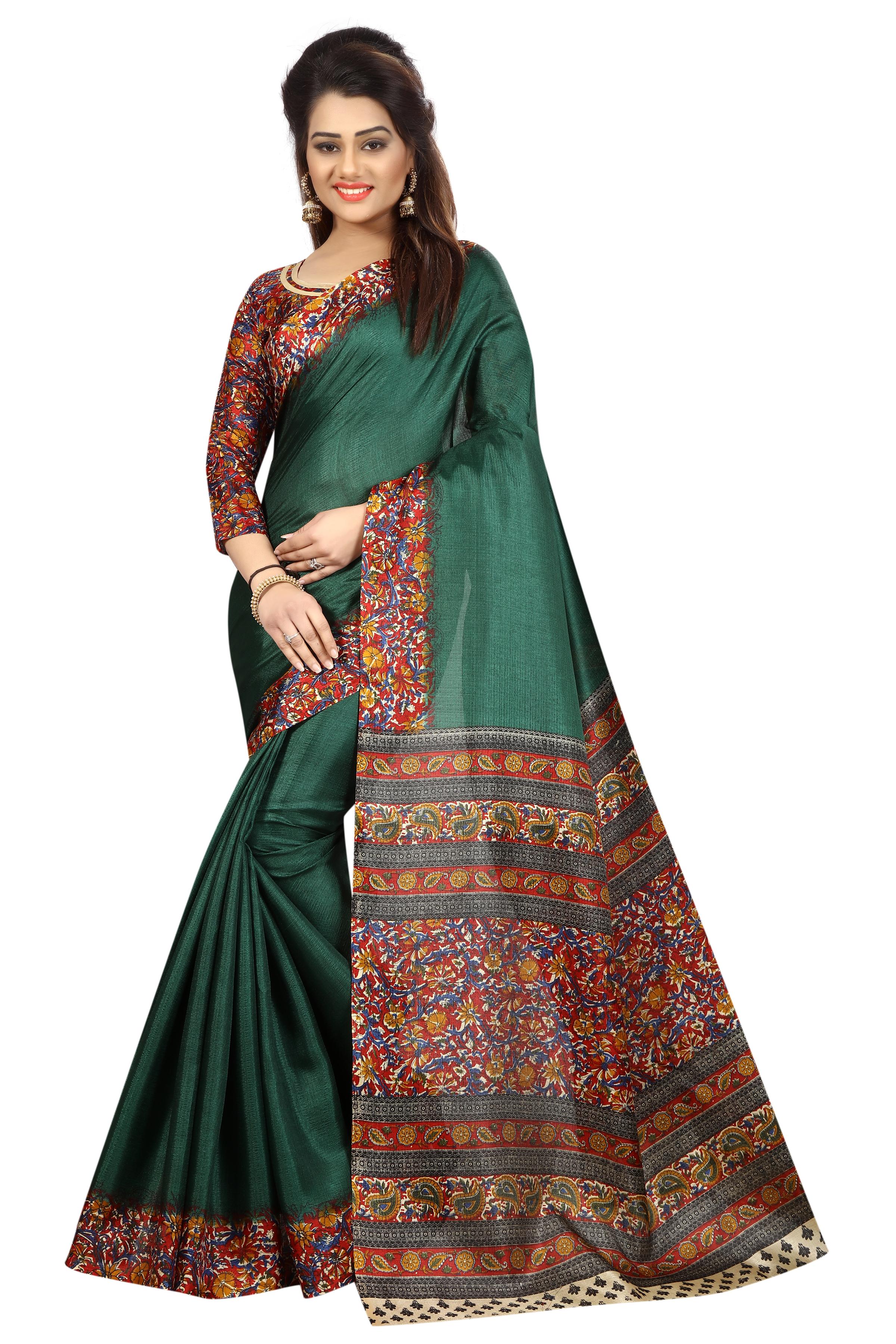 Bollywood Kalamkari Silk Saree