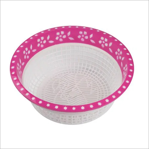 Round Hollow Drain Plastic Basket
