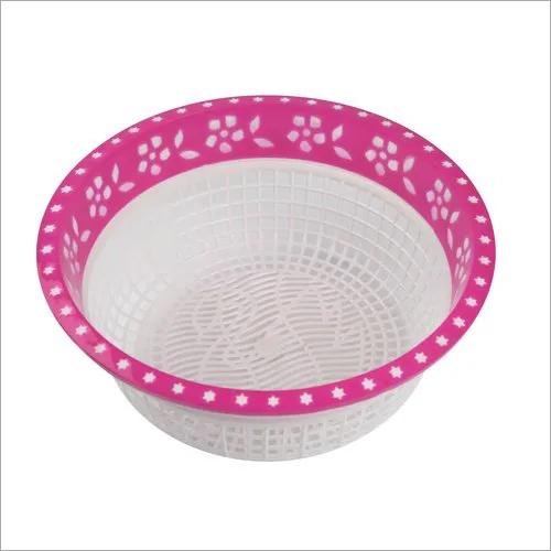 Round Hollow Drain Plastic Basket