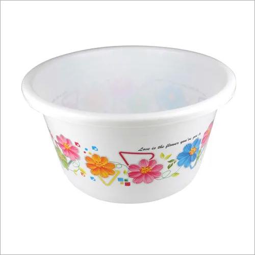 Floral Print Plastic Tub