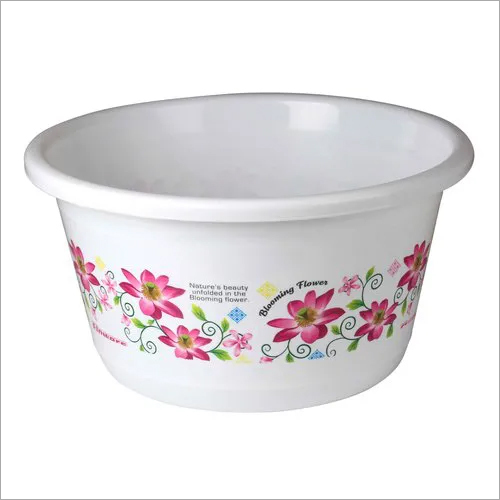 35 Ltr Floral Print Plastic Tub