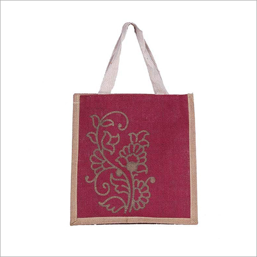 Designer Jute Lunch Bag