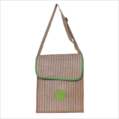 Flap Closure Jute Sling Bag
