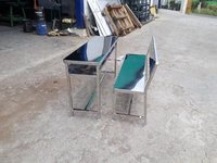 Stainless steel school bench