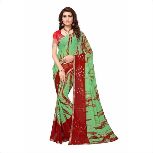 Bandhani Chiffon Silk Saree