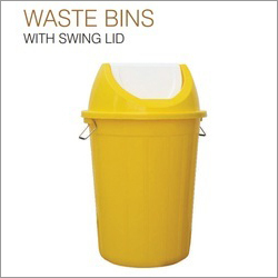 Waste Bin with Swing Lids