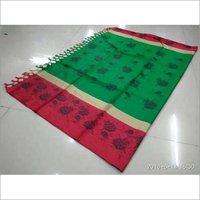 Angi Printed Jhalar Cotton Silk saree