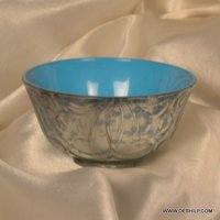 COLOR CUTTING GLASS BOWL