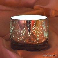 ROUND SHAPE GLASS SILVER VOTIVE