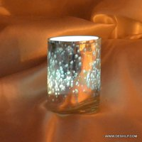 T-LIGHT CANDLE HOLDER WITH SILVER FINISH