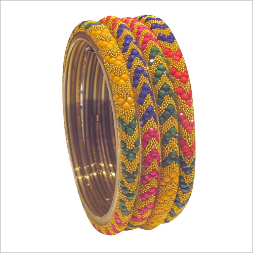 Ladies Multi Color Beads Bangle Set