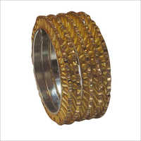 Ladies Party Wear Brass Bangle Set