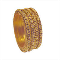 Ladies Brass Plated Bangle Set