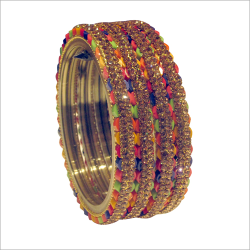 Ladies Designer Glass Bangle Set