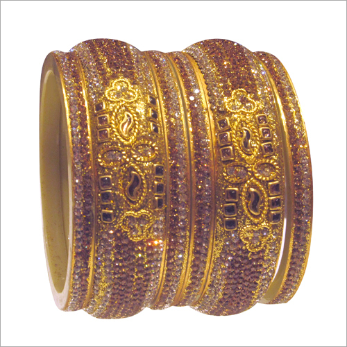 Ladies Party Wear Studded Bangle Set