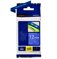 Brother Genuine White on Blue P-Touch Tape(TZe-535)