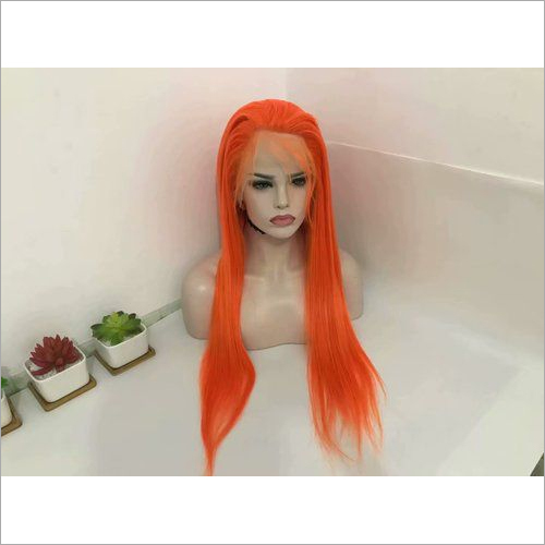 Orange color lace wig