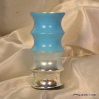 ROUND COLOR SILVER FLOWER VASE