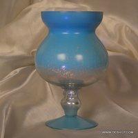 SILVER GLASS ANTIQUE HURRICANE