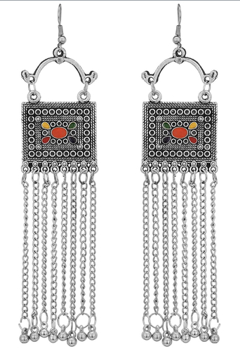 Oxidized silver afghani style