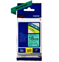 Brother Genuine Black on Green P-Touch Tape(TZe-741)