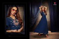Embroidery Work Long Kurtis