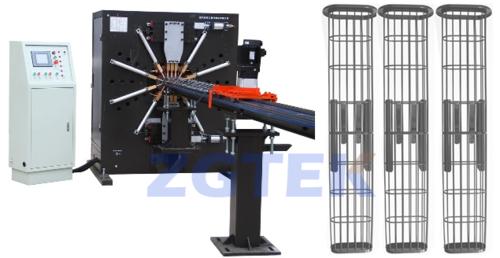 Oval Filter Bag Cage Making Machine Line DLN-16B