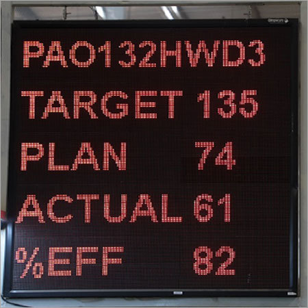 Real Time Production Monitoring TAKT Display Board