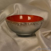 SILVER GLASS MADE CANDLE HOLDER