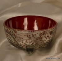 COLORFUL SILVER FINISH GLASS BOWL