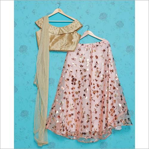 Ladies Crop Top With Skirt