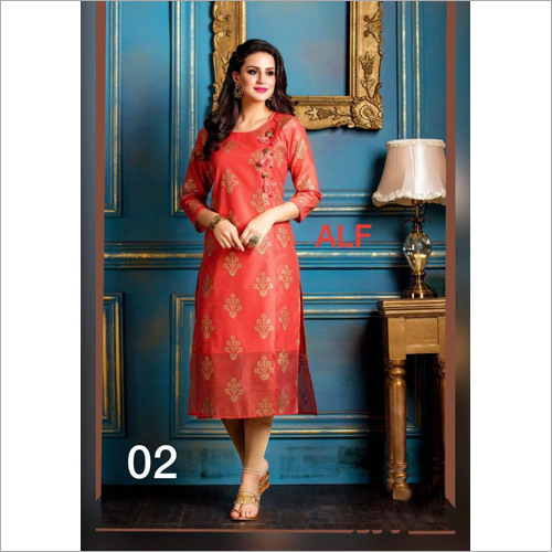 Ladies Straight Modern Kurti
