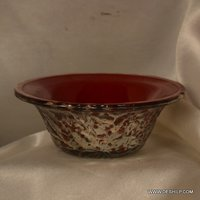 SILVER GLASS MADE LUNCH BOWL