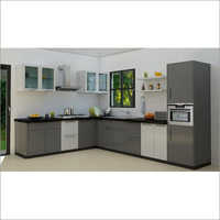 Apartment L Shaped Modular Kitchen