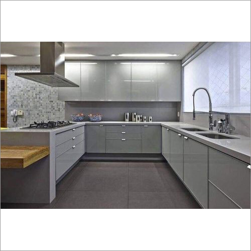 Apartment U Shaped Modular Kitchen