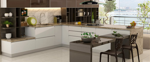 L Shaped Modular Kitchen Installation Service
